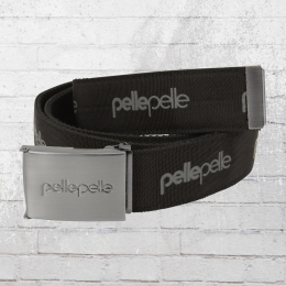 Pelle Pelle Stoff-Gürtel Unisex Core Army schwarz