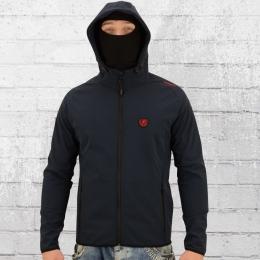 PG Wear Herren Softshell Jacke Offensive dunkel blau