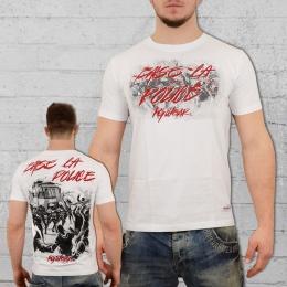 PG Wear Herren T-Shirt Baise La Police weiss