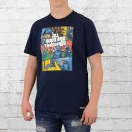PG Wear T-Shirt Herren All Cops Are Bastards blau