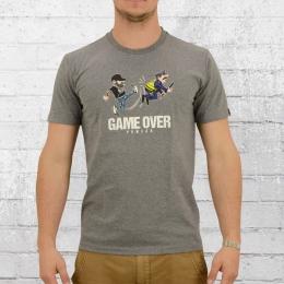 PG Wear T-Shirt Herren Game Over grau