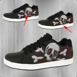 DC Shoes Kinder Schuhe Phos black athletic red white blinkt