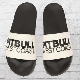 Pit Bull West Coast Badeschlappen TNT weiss schwarz