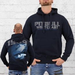 Pit Bull West Coast Herren Kapuzensweater Fighter blau