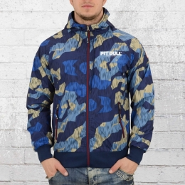 Pit Bull West Coast Herren Windjacke Athletic 7 Camo blau