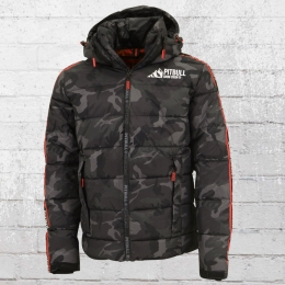 Pit Bull Mens Winter Jacket Airway all black camouflage