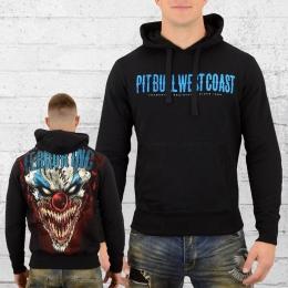 Pit Bull West Coast Männer Kapuzensweater Horror Clown schwarz