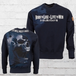 Pit Bull West Coast Männer Sweater Ace of Spades blau