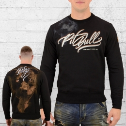 Pit Bull West Coast Männer Sweater Eye of the Dog schwarz