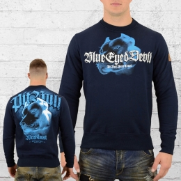 Pit Bull West Coast Männer Sweatshirt Blue Eyed Devil blau