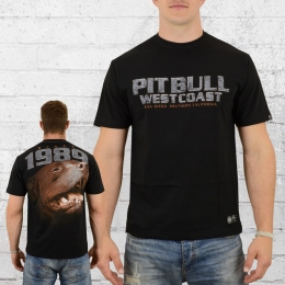 Pit Bull West Coast Männer T-Shirt Fighter schwarz