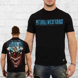 Pit Bull West Coast Männer T-Shirt Horror Clown schwarz