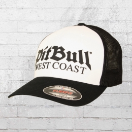 Pitbull West Coast Flexfit Trucker Cap Old Logo schwarz weiss