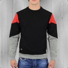 Pelle Pelle Herren Sweatshirt Blockparty Crewneck schwarz rot grau