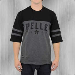 Pelle Pelle Bay Area Halbarm Heavy T-Shirt anthra schwarz