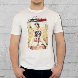 Pussy Sisster Bandshirt Männer T-Shirt weiss