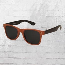 Viper Sonnenbrille Holzoptik 1242 braun