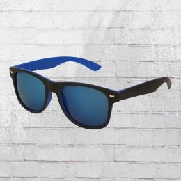 Viper Sonnenbrille Retro 1235 blau schwarz