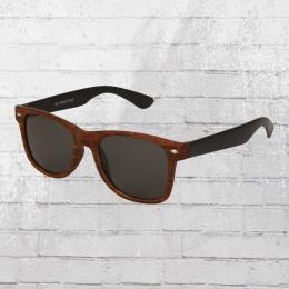 Viper Sonnenbrille Holzoptik 1242 dunkel braun