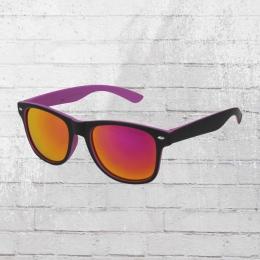 Rainbow Viper Sonnenbrille Retro 1235 lila schwarz