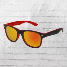 Viper Sonnenbrille Retro 1235 rot schwarz