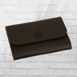 Reell Kleine Echtleder Geldbörse Essential Leather Wallet dunkelbraun