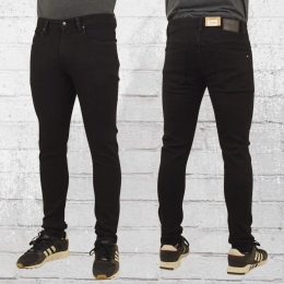 Reell Herren Jeanshose Radar Skinny Röhren-Jeans schwarz