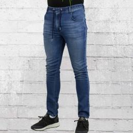 Reell Herren Skinny Hose Jogger Jeans vintage blau