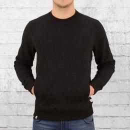 Reell Herren Sweatshirt Stitch Crew schwarz melange
