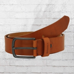 Reell Leder Gürtel All Black Buckle Belt braun