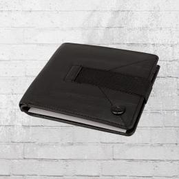 Reell Strap Leder Portemonnaie schwarz