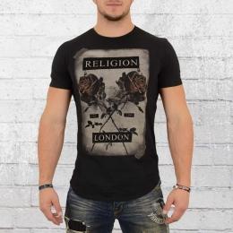 Religion Clothing Herren T-Shirt Cross Rose schwarz
