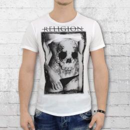 Religion Clothing Herren T-Shirt Skully Belly weiss