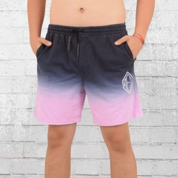 Religion Clothing Sweat Short Fade Away blau rosa