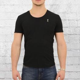 Religion T-Shirt Männer Plain Crew Neck PLF 12 X schwarz