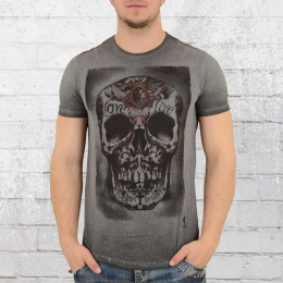 Religion Clothing T-Shirt Männer Tribes Skull vintage grau