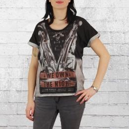 Religion Frauen Oversized T-Shirt We Own The Night schwarz