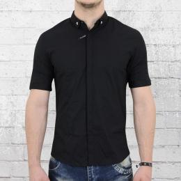 Religion Herren Stretch Hemd Hirst Shirt schwarz