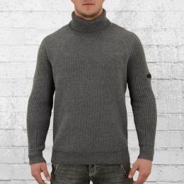 Religion Herren Rollkragen-Strick-Pullover Super Roll grau