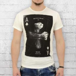 Religion Herren T-Shirt Aces Up weiss schwarz