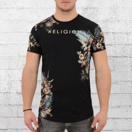 Religion Herren T-Shirt Botanical schwarz