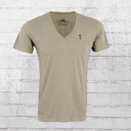 Religion Herren T-Shirt Plain V Neck PLV 06 X flint