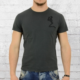 Religion Herren T-Shirt Praying Skeleton dunkelgrau