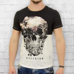 Religion Herren T-Shirt Skull Illusion weiss M