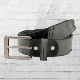 Religion Leder Gürtel NM 3106 Embossed Tab Leather Belt grau