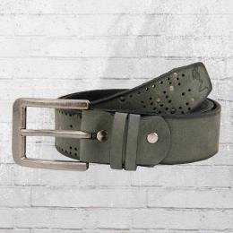 Religion Ledergürtel SVM 3101 Studded Leather Belt grau