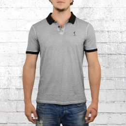 Religion Männer Polo Shirt Zander Oil Wash ZDO 04 grau
