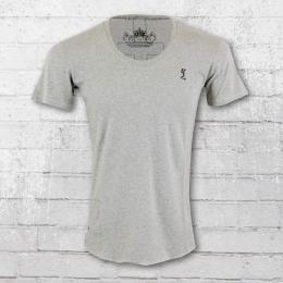 Religion Männer T-Shirt Plain Crew Neck PLF 12 X grey marl