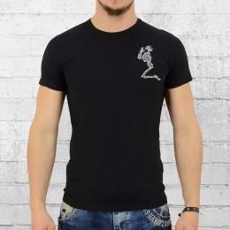 Religion Männer T-Shirt Praying Skeleton schwarz