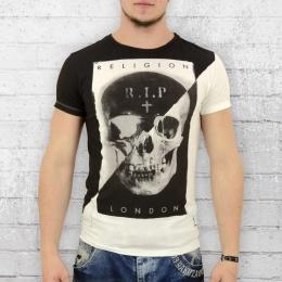 Religion Männer T-Shirt RIP weiss schwarz M